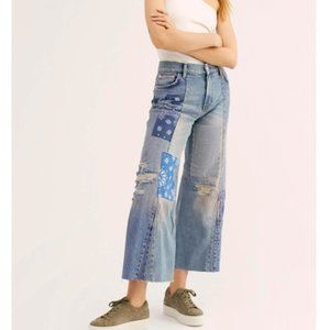 Free People Cotton Patchwork Jeans. 24, 26